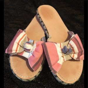 Kate Spade Idalah Striped Bow Sandals
